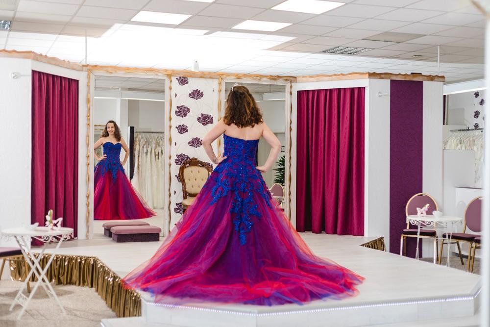 Schützenköniginnenkleid Schützenfest Hamm Festkleid Blau Violett Rot Pink