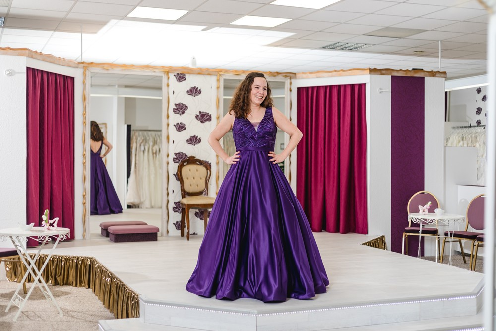 Schützenköniginnenkleid Schützenfest Hamm Festkleid Violett